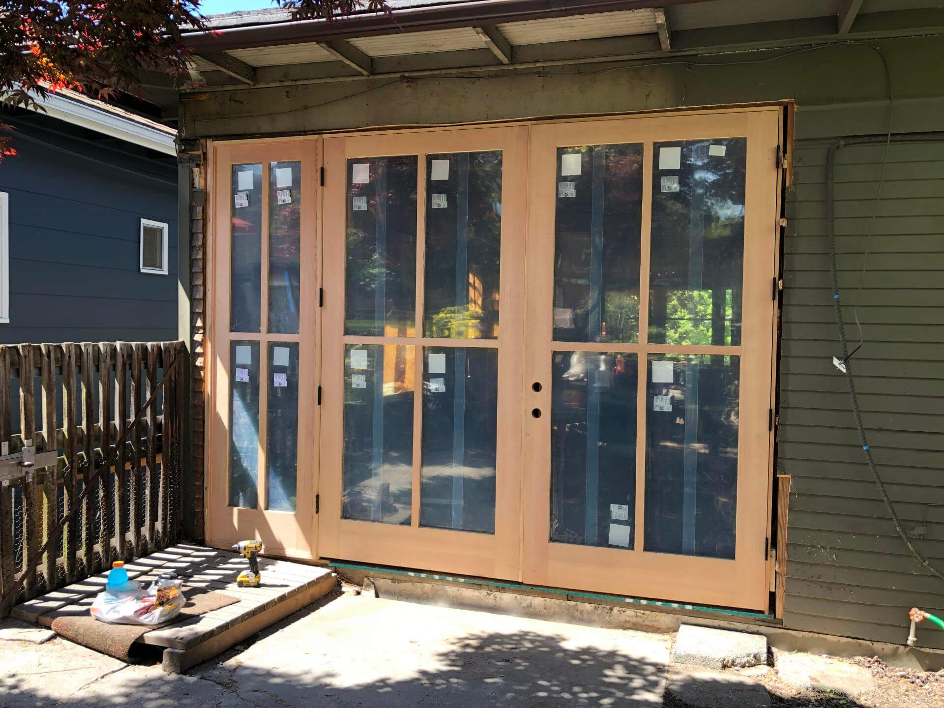 Exterior door installation in Bellevue